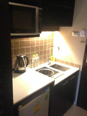 Vacio Suite: 小廚房,有微波爐,還有電磁爐