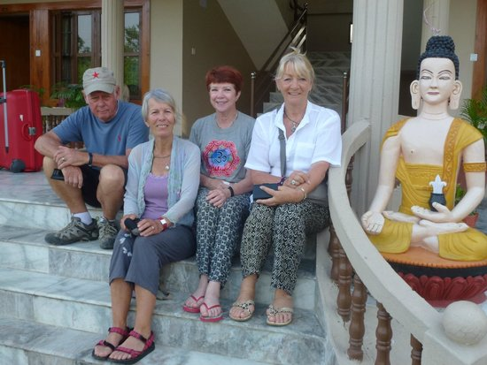 Chitwan Forest Resort: On the steps of our accommodation