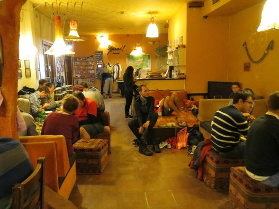 Hostel Mostel: Communal and dining area IN HOSTEL itself