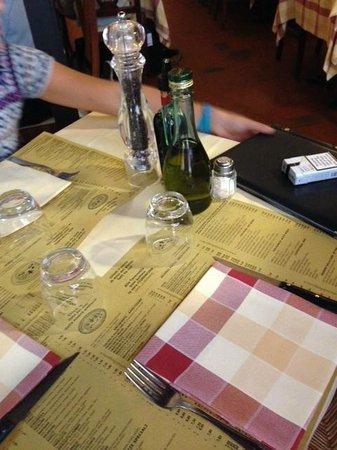 La Ghiotta: table