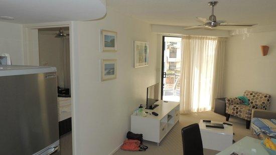 The Beach Retreat Coolum: 2 bedroom living space - Veranda - Double Bedroom