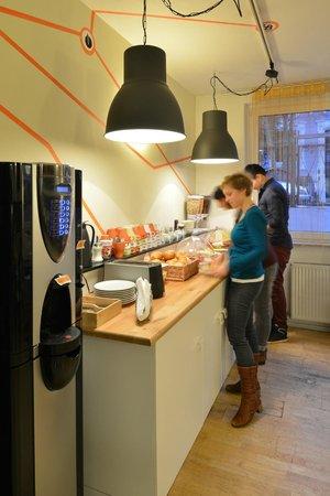 Townside Hostel Bremen : Aufenthalts- und Frühstücksraum