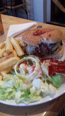 The Victoria Hotel and restaurant: cheese burger
