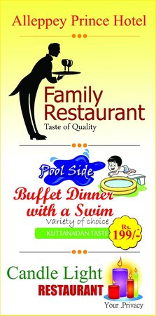Alleppey Prince Hotel: The Best restaurant in Alleppey with wide spread of dishes.