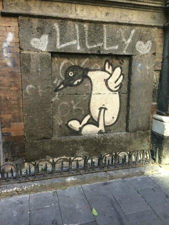 OK it's not Banksey but it's cute Centro Storico Graffiti