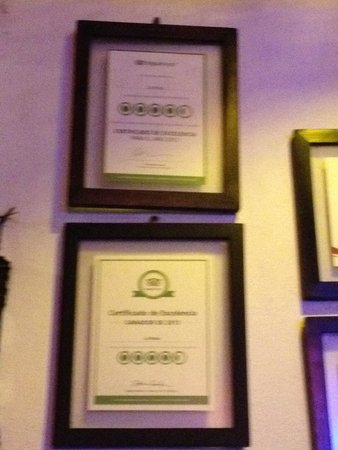 Langosteria Maya Restaurant : Certificates of excellence 2012 & 2013