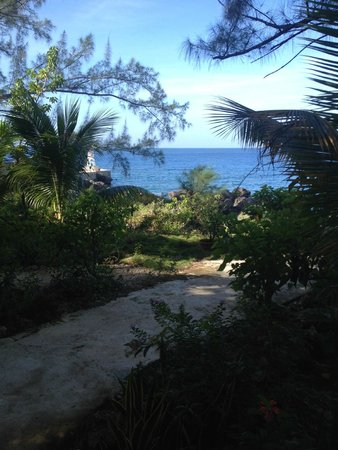 Sea Grape Villas: walkway to the private area