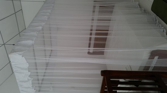 Chitra Ayurveda: Chitra Resort -double  bed with mozzie net