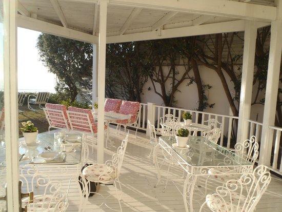 Southern Cross Beach House: Guest terrace