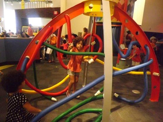 Glazer Children's Museum: Tubes activity!