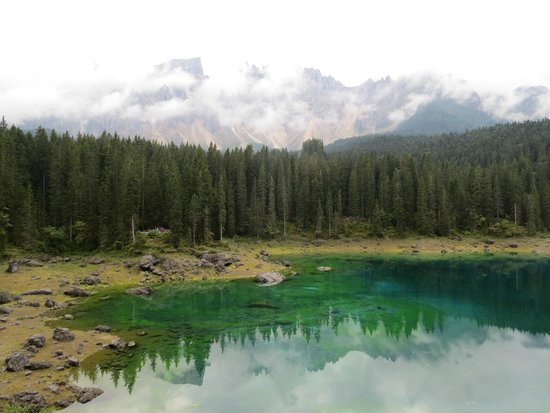 Lago di Carezza : カレッツア湖畔 ラテマール山