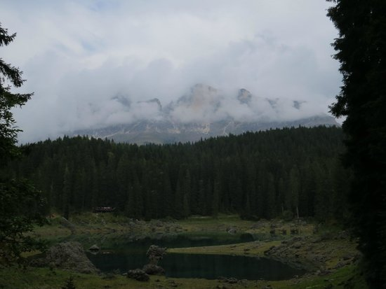 Lago di Carezza : 湖畔遊歩道より