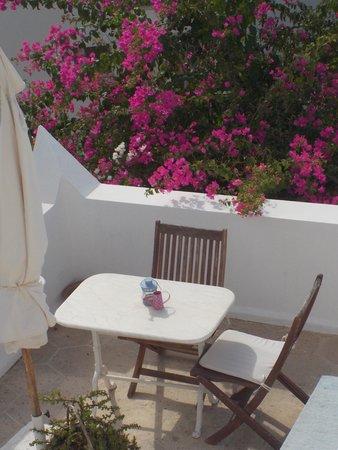 Beyaz Hotel: Terrasse
