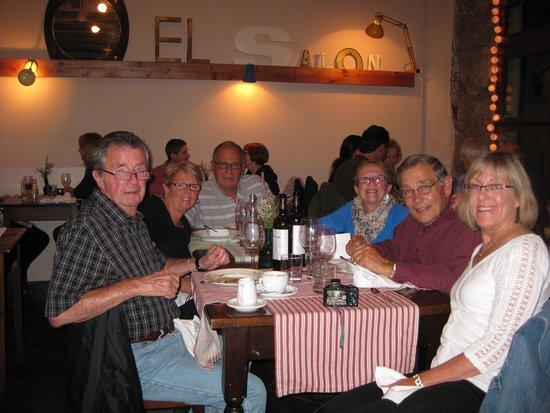 Friends in Barcelona's El Salon