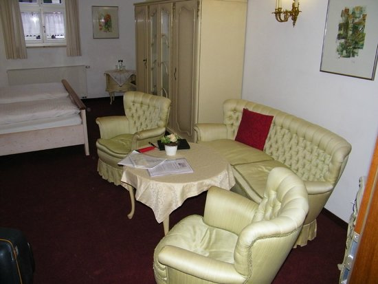 Hotel Haus Appelberg: zitje op slaapkamer