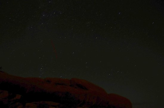 Tuweep Tours: Night time stars and red rocks