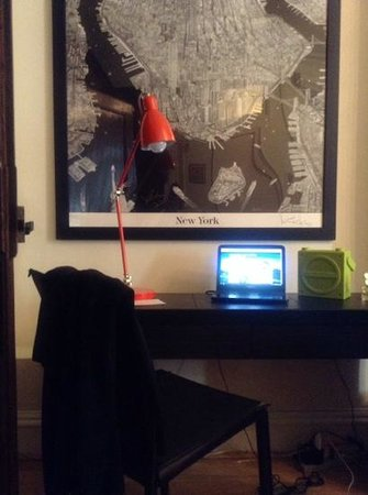 East Village Apartments: Work space for travel blogger!