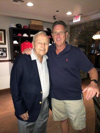 Arnold Palmer's Restaurant: Lucky me meeting Arnold Palmer in his restaurant