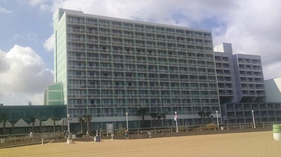 Holiday Inn Va Beach-Oceanside (21st St) : View of hotel from the beach