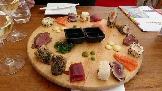 Beach Club Bries: Sushi im Bries