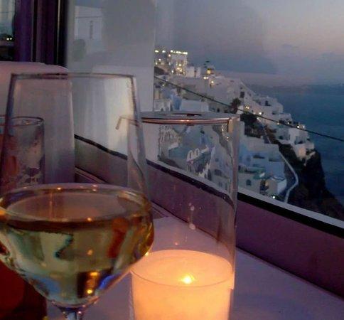 Mylos Bar Restaurant : View of Fira
