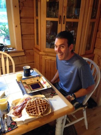 Brookings, OR: Definitely recommend requesting homemade waffles made on the antique waffle iron