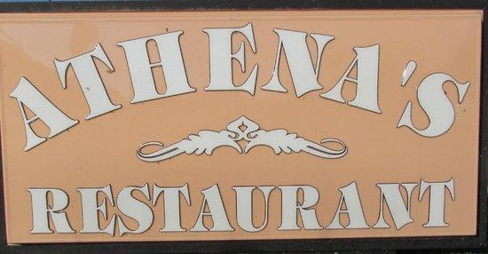 Athena's Deli & Restaurant: Sign
