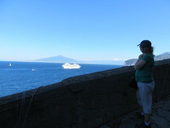 Hotel Villa Maria : View to Vesuvious