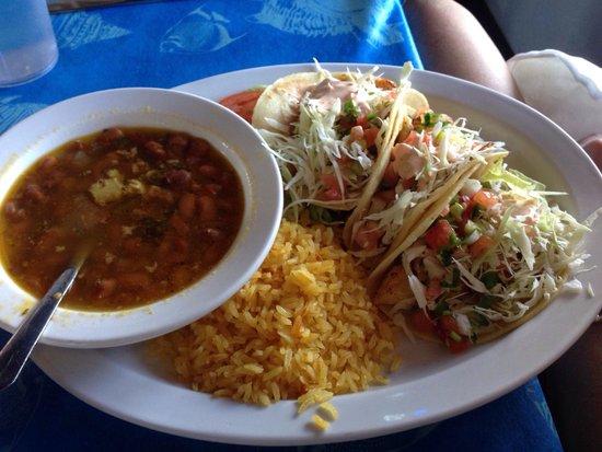 Cap'n Roy's: Blackened Fish Taco Plate - $11.99