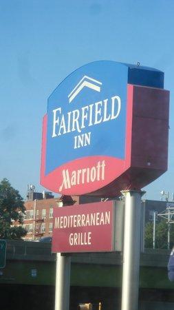 Fairfield Inn New York JFK Airport: You can't Miss the Fairfield Inn Sign Board