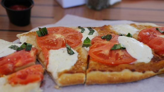 Panini's on the Waterfront: Believe me it looks much better then it tasted! Garlic overload!