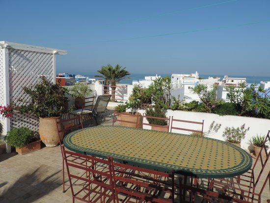 Dar Mimouna : la terrasse sur le toit