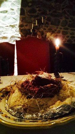 Grem Le Club Restaurant : Filetto cotto sotto sale al fieno di maggio