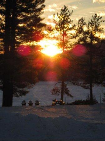 Shamrock Motel & Cottages: Winter view