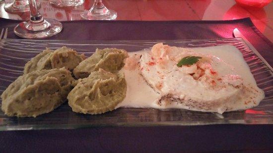Ma Cuisine Resto: Salmon blanco con salsa de camarones y pure de brocoli con papas