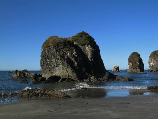 Brookings, Oregón: Look at some of the coastal rocks at Harris Beach State Park