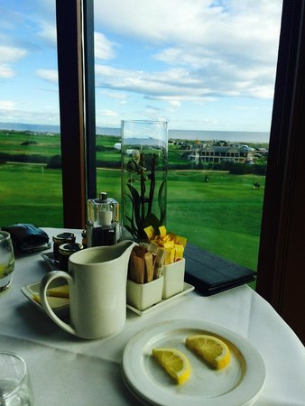 Old Course Hotel, Golf Resort & Spa : View at Breakfast