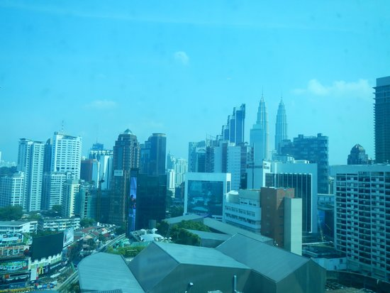 Hotel Royal Kuala Lumpur: View from our Hotel indow of the Petronas Towers