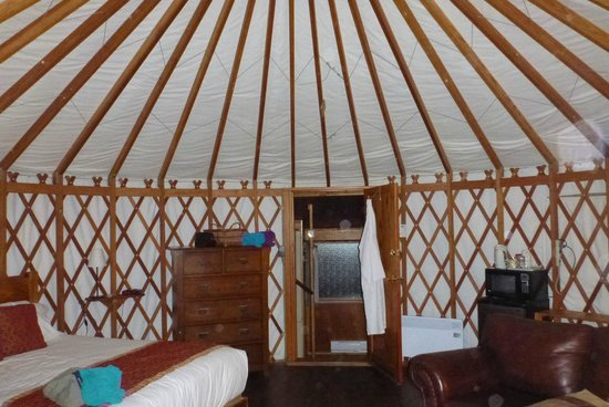 Soule Creek Lodge: the inside of the Yurt
