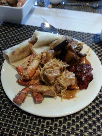 New Quay International Buffet & Bar: platter of yum yum