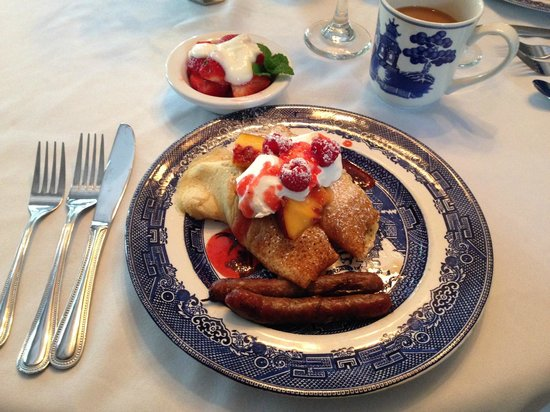 The Willows Inn: One of the delicious breakfasts