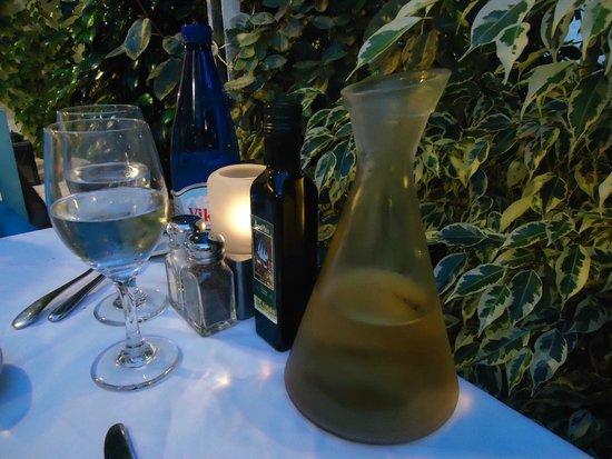 Apollon Garden: Our table with garden in the background