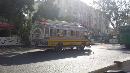 Karachi Marriott Hotel: on the way to the hotel