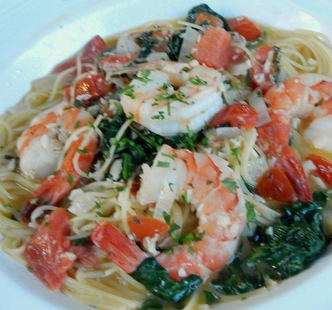 shrimp scampi with pasta - Picture of Beacon Falls Cafe