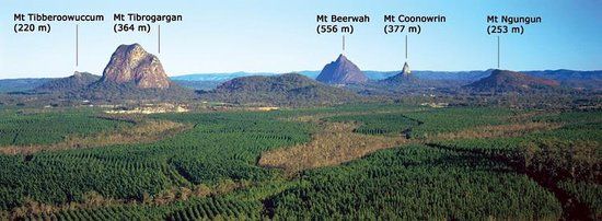 Queensland, Australië: Glass House Mountains