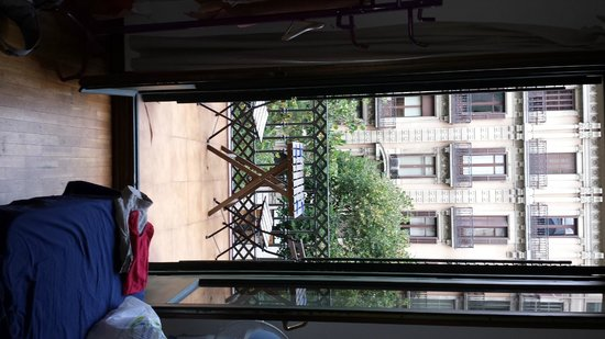 Art City Hostel: Veranda of private room