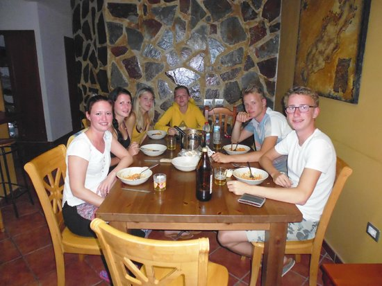 Calima Surf School: Dining Table - With some great people ! :)