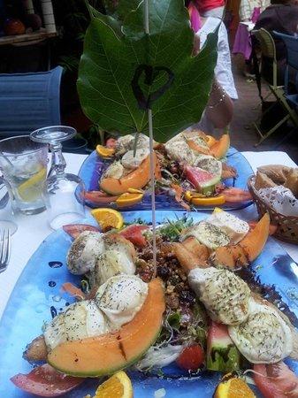 Le Jardin du Naris : Une des salades estivales et vraiment délicieuse