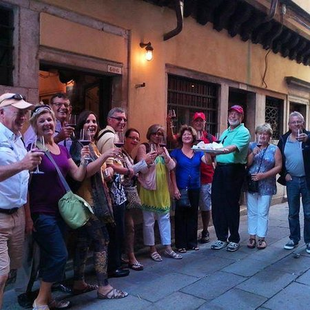 Venice Urban Adventures : Our group enjoying the lovely weather!