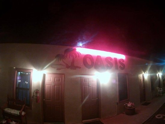 The Oasis Motel: Oasis Motel sign looks great